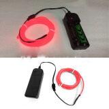 ราคา 4M El Wire Rope Tube Neon Light Glow Controller Car Party Decor Red Intl ใหม่