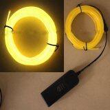 ราคา 4M El Wire Rope Tube Neon Light Glow Controller Car Party Decor Yellow Intl ใหม่