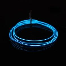 ซื้อ 4M Led Light Glow Flat El Wire Strip Rope Tube Car Dance Party Usbcontroller Blue Color Intl Possbay