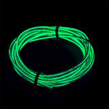 ซื้อ 4M Led Light Glow Flat El Wire Strip Rope Tube Car Dance Party Usbcontroller Green Color Intl ถูก