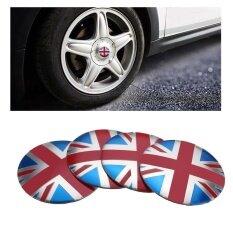 4 ชิ้น 3d โลหะผสมสัญลักษณ์ธงชาติรถดุมล้อรถฝาครอบสติกเกอร์รูปลอกอังกฤษ - Intl By Freebang.