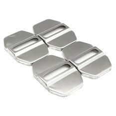 ราคา 4Pcs Auto Stainless Steel Door Lock Protective Covers Cap Decortive Accessories Intl ใหม่ ถูก