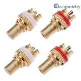 ขาย 4Pcs Copper Rca Female Terminal Plug Jack Socket High Quality Av Audio Video Connector Intl ถูก ใน จีน