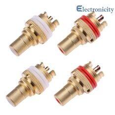 ขาย 4Pcs Copper Rca Female Terminal Plug Jack Socket High Quality Av Audio Video Connector Intl Unbranded Generic ผู้ค้าส่ง