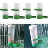 ทบทวน 4Pcs Plastic Pet Bird Drinker Feeder Water Bottle Cup Farming Trough Equipment Intl