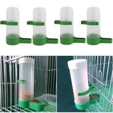4Pcs Plastic Pet Bird Drinker Feeder Water Bottle Cup Farming Trough Equipment Intl เป็นต้นฉบับ