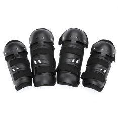 ราคา 4Pcs Racing Bicycle Motorcycle Knee Pad And Elbow Protector Protective Gear Black Intl Thailand