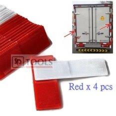 ราคา 4X Reflective Warning Plate แผ่นอะคริลิคสะท้อนแสง ติดท้ายรถบรรทุก 4 ชิ้น สีแดง Unbranded Generic ออนไลน์
