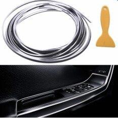 ซื้อ เส้นขอบตกแต่ง รถยนต์ เส้นตัดขอบ ได้ทั้งภายในและภายนอก ขนาด ยาว 5 เมตร สีเงิน Silver กดให้เลือกสีได้แล้ว ที่ใต้รูปภาพ ถูก