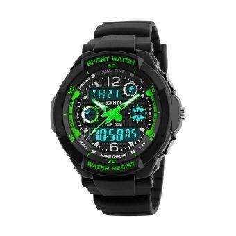 นาฬิกาเด็กกีฬา 50 เมตรกันน้ำแฟชั่นสบาย ๆ ควอตซ์ดิจิตอลนาฬิกาชายสาว LED มัลติฟังก์ชั่นนาฬิกาข้อมือ - นานาชาติ