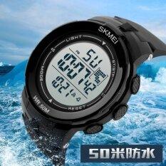 ขาย หรูแบรนด์ผู้ชายกีฬานาฬิกาดำ 50 เมตรดิจิตอลนำทหารนาฬิกาผู้ชายแฟชั่นสบายๆนาฬิกาข้อมือร้อนนาฬิกา 1127 นานาชาติ ใน จีน