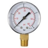 ขาย 50Mm 60Psi 4Bar Pool Filter Water Pressure Dial Hydraulic Pressure Gauge Meter Manometer 1 4 Npt Thread Intl ถูก ใน ชิลี