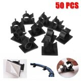 50Pcs Cable Cord Adhesive Fasteners Clips Organizer Clamp Mounting Range Wireless Intl เป็นต้นฉบับ
