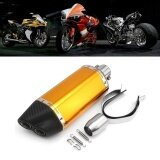 ซื้อ 51Mm Motorcycle Exhaust Carbon Stainless Steel Muffler Pipe Double Air Outlet Gold Intl ใน จีน
