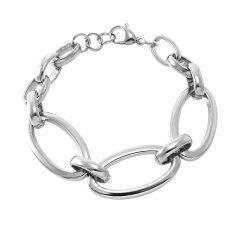 555Jewelry 316L Bracelet สร้อยข้อมือ รุ่น Mnc Br243 A Steel สร้อยข้อมือ สร้อยข้อมือผู้หญิง สร้อยข้อมือคู่ สร้อยข้อมือทอง กำไลข้อมือหญิง ข้อมือสแตนเลส ถูก
