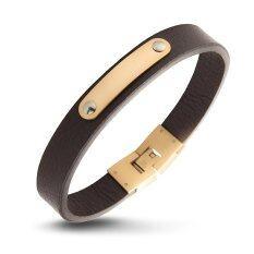 ซื้อ 555Jewelry 316L Bracelet สร้อยข้อมือหนัง รุ่น Mnc Br273 C1 สี Pink Gold Brown สร้อยข้อมือ สร้อยข้อมือผู้หญิง สร้อยข้อมือคู่ สร้อยข้อมือทอง กำไลข้อมือหญิง ข้อมือสแตนเลส ออนไลน์ ถูก