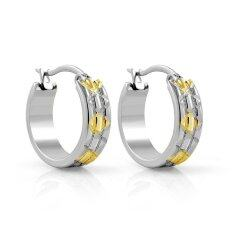 ราคา 555Jewelry 316L Earringsต่างหูห่วง รุ่นMnc Er087 B1 สีsteel Yellow Gold ต่างหู ต่างหูแฟชั่น ต่างหูหนีบ ต่างหูทอง ต่างหูเงิน ต่างหูผู้หญิง เป็นต้นฉบับ