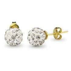 555jewelry 316L Earrings ต่างหู รุ่น MNC-ER496-B สี Yellow Gold ต่างหู ต่างหูแฟชั่น ต่างหูหนีบ ต่างหูทอง ต่างหูเงิน ต่างหูผู้หญิง