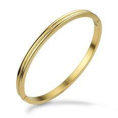 ราคา 555Jewelry กำไล สแตนเลสสตีล ดีไซน์คลาสสิค สี ทอง สร้อยข้อมือ สร้อยข้อมือผู้หญิง สร้อยข้อมือคู่ สร้อยข้อมือทอง กำไลข้อมือหญิง ข้อมือสแตนเลส ไทย
