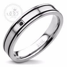 555jewelry แหวน รุ่น AZR-R045-A1-S  (สี Steel Black CZ) แหวนคู่รัก แหวนคู่ แหวนผู้ชายเท่ๆ แหวนแฟชั่นชาย แหวนผู้ชาย แหวนของผู้ชาย