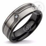 ขาย 555Jewelry แหวนผู้ชาย แหวนเรียบ กัดลาย รุ่น Mnr 338T D สี ดำ R45 แหวนคู่รัก แหวนคู่ แหวนผู้ชายเท่ๆ แหวนแฟชั่นชาย แหวนผู้ชาย แหวนของผู้ชาย ใหม่