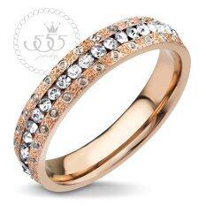 ขาย 555Jewelry แหวน สวมใส่ได้ทั้งชายและหญิง รอบวงทำ Cutting ลายวงกลม ประดับด้วย Cz สีขาว รุ่น Mnc R164 C สี Pink Goldแหวนผู้หญิง แหวนคู่ แหวนคู่รัก เครื่องประดับ แหวนผู้ชาย แหวนแฟชั่น เป็นต้นฉบับ