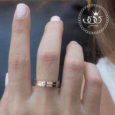 ทบทวน ที่สุด 555Jewelry เครื่องประดับสแตนเลส แหวนเรียบ สไตล์มินิมอล ดีไซน์สวย ประดับเพชรCz รุ่น Azr R038 สีเงิน โรสโกลด์ R65 แหวนผู้หญิง แหวนคู่ แหวนคู่รัก เครื่องประดับ แหวนผู้ชาย แหวนแฟชั่น