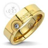 ราคา 555Jewelry แหวนคู่ ดีไซน์เรียบประดับ Cz สลัก Forever สีทอง รุ่น Mnr 362T B แหวนเรียบ ดีไซน์แบบ Unisex สแตนเลสสตีลแหวนผู้หญิง แหวนคู่ แหวนคู่รัก เครื่องประดับ แหวนทองผู้หญิง แหวนแฟชั่น ใหม่ ถูก