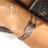 ซื้อ 555Jewelry สร้อยข้อมือสำหรับสุภาพสตรี ประดับด้วย Cz รุ่น Mnbr 019G C สี Pink Gold สร้อยข้อมือ สร้อยข้อมือผู้หญิง สร้อยข้อมือคู่ สร้อยข้อมือทอง กำไลข้อมือหญิง ข้อมือสแตนเลส ใหม่ล่าสุด
