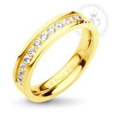 ราคา 555Jewelry แหวนเรียบ ประดับด้วย Cz สีขาว รุ่น Mnc R035 B สี ทองแหวนผู้หญิง แหวนคู่ แหวนคู่รัก เครื่องประดับ แหวนทองผู้หญิง แหวนแฟชั่น ถูก