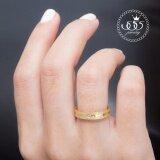 ราคา ราคาถูกที่สุด 555Jewelry แหวน สแตนเลสสตีล ผิวทรายระยิบรอบวงประดับCz Mnc R661 B ทอง R74 แหวนผู้หญิง แหวนคู่ แหวนคู่รัก เครื่องประดับ แหวนทองผู้หญิง แหวนแฟชั่น