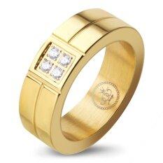 ขาย ซื้อ 555Jewelry เครื่องประดับ ผู้หญิง แหวน สแตนเลสสตีล แหวนดีไซน์เรียบหรู ประดับ Czสี ทอง รุ่น Mnr 039T4Cz Bแหวนผู้หญิง แหวนคู่ แหวนคู่รัก เครื่องประดับ แหวนทองผู้หญิง แหวนแฟชั่น ใน สมุทรปราการ