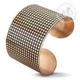 ทบทวน ที่สุด 555Jewelry กำไลข้อมือสำหรับสุภาพสตรี ลาย Dot Texture รุ่น Mnc Bg114 C Pink Gold Bg5 กำไลข้อมือ กำไลข้อมือหญิง กำไลข้อมือคู่ กำไลข้อมือทอง
