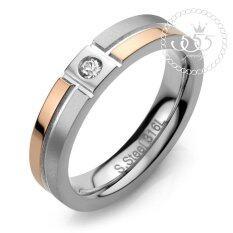 ราคา 555Jewelry เครื่องประดับสแตนเลส แหวนเรียบ สไตล์มินิมอล ดีไซน์สวย ประดับเพชรCz รุ่น Azr R038 สีเงิน โรสโกลด์ R65 แหวนผู้หญิง แหวนคู่ แหวนคู่รัก เครื่องประดับ แหวนผู้ชาย แหวนแฟชั่น
