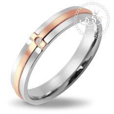 ราคา 555Jewelry แหวนสไตล์ Minimal ตัวเรือนเป็นสี Steel ตรงกลางทำลาย Cross ทำสี Pink Gold รุ่น Mnc R198 Cแหวนผู้หญิง แหวนคู่ แหวนคู่รัก เครื่องประดับ แหวนผู้ชาย แหวนแฟชั่น 555Jewelry เป็นต้นฉบับ
