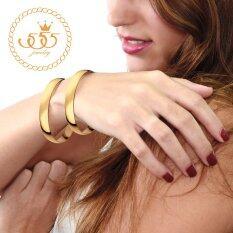 โปรโมชั่น 555Jewelry กำไลข้อมือ รุ่น Mnc Bg134 B Yellow Gold กำไลข้อมือ กำไลข้อมือหญิง กำไลข้อมือคู่ กำไลข้อมือทอง