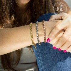 ส่วนลด สินค้า 555Jewelry สร้อยข้อมือ รุ่น Mnc Br236 B Yellow Gold สร้อยข้อมือ สร้อยข้อมือผู้หญิง สร้อยข้อมือคู่ สร้อยข้อมือทอง กำไลข้อมือหญิง ข้อมือสแตนเลส