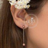ส่วนลด สินค้า 555Jewelry ต่างหูสำหรับสุภาพสตรี รุ่น Mnc Er071 C Pink Gold ต่างหู ต่างหูแฟชั่น ต่างหูหนีบ ต่างหูทอง ต่างหูเงิน ต่างหูผู้หญิง
