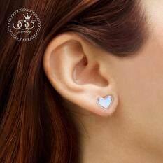 ขาย 555Jewelry ต่างหูก้านเสียบรูปหัวใจ รุ่น Mnc Er373 C Pink Gold ต่างหู ต่างหูแฟชั่น ต่างหูหนีบ ต่างหูทอง ต่างหูเงิน ต่างหูผู้หญิง