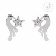 555jewelry ต่างหูสตั๊ด รูปดาว รุ่น MNC-ER772 (ER35) ต่างหู ต่างหูแฟชั่น ต่างหูหนีบ ต่างหูทอง ต่างหูเงิน ต่างหูผู้หญิง