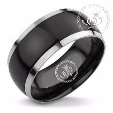 555Jewelry แหวนดีไซน์สวยงาม รุ่น Mnc R046 Black R63 แหวนคู่รัก แหวนคู่ แหวนผู้ชายเท่ๆ แหวนแฟชั่นชาย แหวนผู้ชาย แหวนของผู้ชาย ถูก
