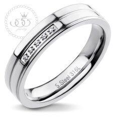 555jewelry แหวน รุ่น Mnc-R115-A (steel)แหวนผู้หญิง แหวนคู่ แหวนคู่รัก เครื่องประดับ แหวนผู้ชาย แหวนแฟชั่น.