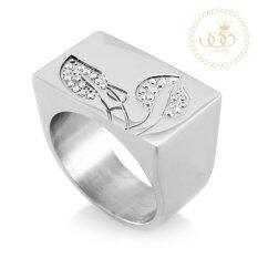 โปรโมชั่น 555Jewelry แหวน รุ่น Mnc R125 A Steel White Cz แหวนผู้หญิง แหวนคู่ แหวนคู่รัก เครื่องประดับ แหวนผู้ชาย แหวนแฟชั่น