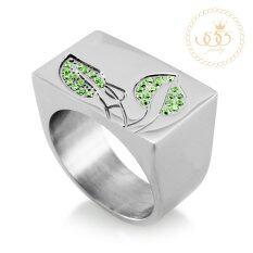 ทบทวน 555Jewelry แหวน รุ่น Mnc R125 D Steel Emerald Cz แหวนผู้หญิง แหวนคู่ แหวนคู่รัก เครื่องประดับ แหวนผู้ชาย แหวนแฟชั่น