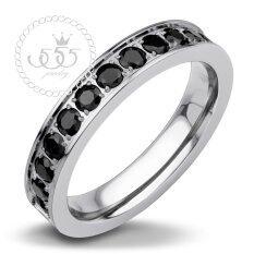 โปรโมชั่น 555Jewelry แหวน รุ่น Mnc R143 B Steel แหวนผู้หญิง แหวนคู่ แหวนคู่รัก เครื่องประดับ แหวนผู้ชาย แหวนแฟชั่น ใน ไทย