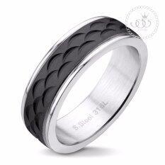 ซื้อ 555Jewelry แหวน รุ่น Mnc R158 D สี Black แหวนคู่รัก แหวนคู่ แหวนผู้ชายเท่ๆ แหวนแฟชั่นชาย แหวนผู้ชาย แหวนของผู้ชาย 555Jewelry เป็นต้นฉบับ