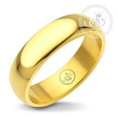 555Jewelry แหวนดีไซน์เรียบ สีทอง รุ่น Mnc R161 B แหวนเกลี้ยง แหวนเรียบ ดีไซน์แบบ Unisex สแตนเลสสตีลแหวนผู้หญิง แหวนคู่ แหวนคู่รัก เครื่องประดับ แหวนทองผู้หญิง แหวนแฟชั่น เป็นต้นฉบับ