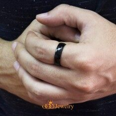 ราคา 555Jewelry แหวนดีไซน์เรียบ สีดำ รุ่น Mnc R161 D แหวนเกลี้ยง แหวนเรียบ ดีไซน์แบบ Unisex สแตนเลสสตีล R86 แหวนคู่รัก แหวนคู่ แหวนผู้ชายเท่ๆ แหวนแฟชั่นชาย แหวนผู้ชาย แหวนของผู้ชาย ถูก