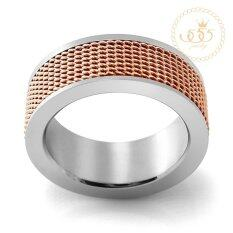 โปรโมชั่น 555Jewelry แหวน รุ่น Mnc R205 C Pink Gold แหวนผู้หญิง แหวนคู่ แหวนคู่รัก เครื่องประดับ แหวนผู้ชาย แหวนแฟชั่น 555Jewelry