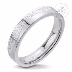 555jewelry แหวน รุ่น MNC-R333-A  (สี Steel) แหวนคู่รัก แหวนคู่ แหวนผู้ชายเท่ๆ แหวนแฟชั่นชาย แหวนผู้ชาย แหวนของผู้ชาย